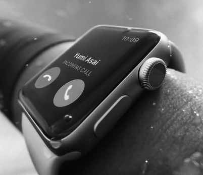 Apple watch blanco y negro